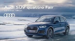 Audi Q5 のデビューを記念して、スペシャルな「ご成約特典」で贈る特別な9日間。11/11 sat.-11/19 sun.